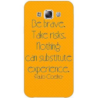 1 Crazy Designer Quote Back Cover Case For Samsung Galaxy E7 C421354