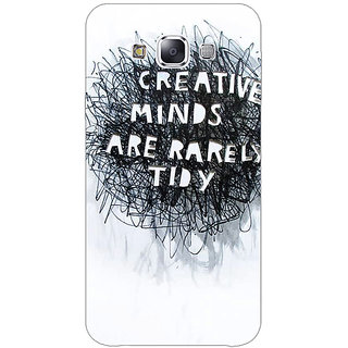 1 Crazy Designer Quote Back Cover Case For Samsung Galaxy E7 C421356