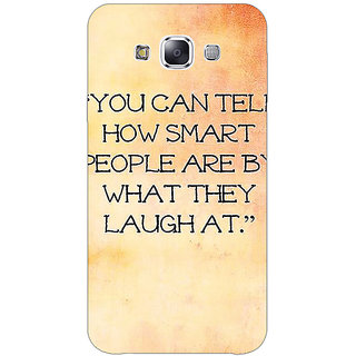 1 Crazy Designer Quote Back Cover Case For Samsung Galaxy E7 C421357