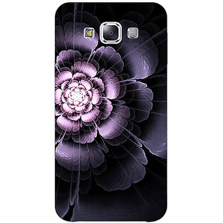 1 Crazy Designer Abstract Flower Pattern Back Cover Case For Samsung Galaxy E7 C421518