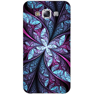1 Crazy Designer Abstract Flower Pattern Back Cover Case For Samsung Galaxy E7 C421520