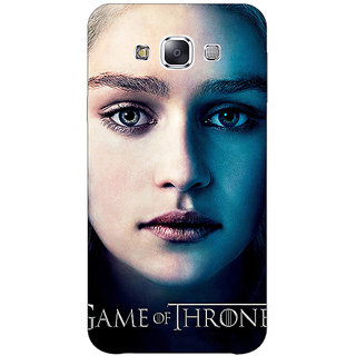 1 Crazy Designer Game Of Thrones GOT Khaleesi Daenerys Targaryen Back Cover Case For Samsung Galaxy E7 C421544