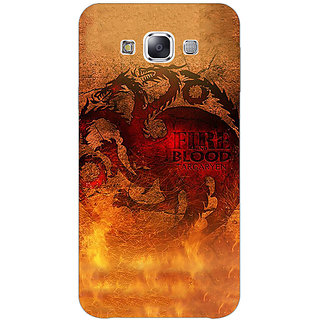 1 Crazy Designer Game Of Thrones GOT House Targaryen Back Cover Case For Samsung Galaxy E7 C421550