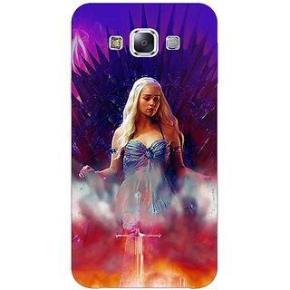 1 Crazy Designer Game Of Thrones GOT Khaleesi Daenerys Targaryen Back Cover Case For Samsung Galaxy E7 C421552