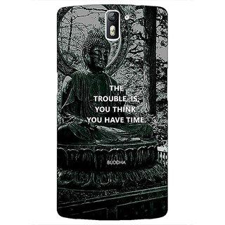 1 Crazy Designer Gautam Buddha Back Cover Case For OnePlus One C411276