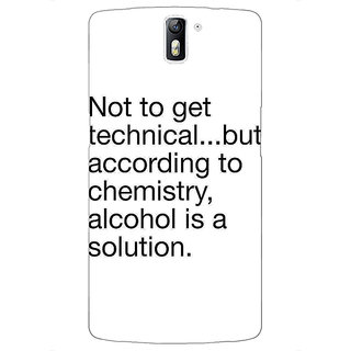 1 Crazy Designer Alcohol Quote Back Cover Case For OnePlus One C411310
