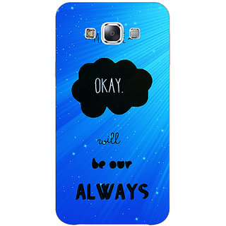 1 Crazy Designer TFIOS Maybe OKAY will be Our Always  Back Cover Case For Samsung Galaxy A7 C430110