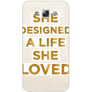1 Crazy Designer Quotes Beautiful Back Cover Case For Samsung Galaxy E7 C421190