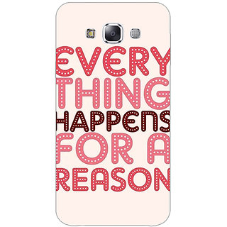 1 Crazy Designer Good Quote Back Cover Case For Samsung Galaxy E7 C421201