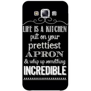 1 Crazy Designer Chef Quote Back Cover Case For Samsung Galaxy E7 C421203