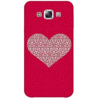 1 Crazy Designer Hearts Back Cover Case For Samsung Galaxy E7 C421425