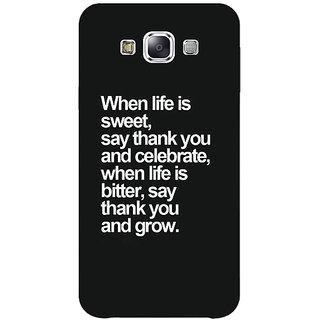 1 Crazy Designer Quote Back Cover Case For Samsung Galaxy E7 C421473