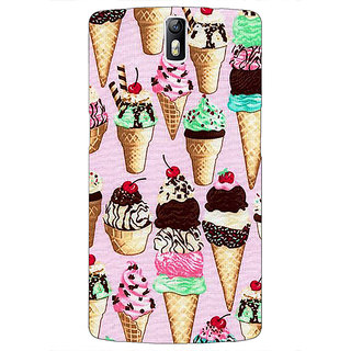 1 Crazy Designer Ice cream Doodle Back Cover Case For OnePlus One C411366