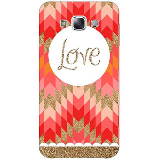 1 Crazy Designer Love Back Cover Case For Samsung Galaxy E5 C440096