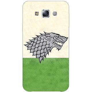 1 Crazy Designer Game Of Thrones GOT House Stark  Back Cover Case For Samsung Galaxy E5 C440120
