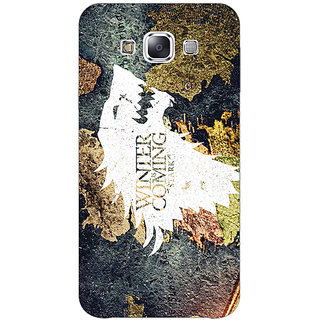 1 Crazy Designer Game Of Thrones GOT House Stark  Back Cover Case For Samsung Galaxy E5 C440124