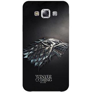 1 Crazy Designer Game Of Thrones GOT House Stark  Back Cover Case For Samsung Galaxy E5 C440134
