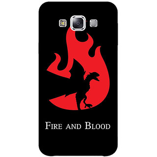 1 Crazy Designer Game Of Thrones GOT House Targaryen  Back Cover Case For Samsung Galaxy E5 C440143