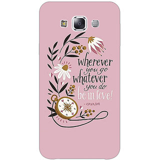 1 Crazy Designer Quotes Pink Back Cover Case For Samsung Galaxy A7 C431135