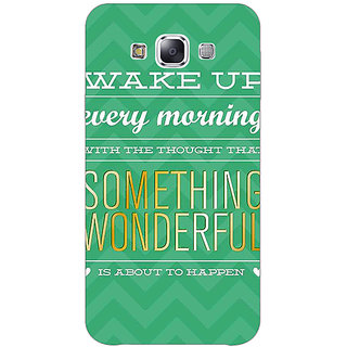 1 Crazy Designer Quotes Something Wonderful Back Cover Case For Samsung Galaxy A7 C431157