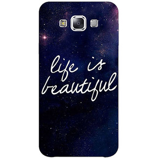 1 Crazy Designer Quotes Life is Beautiful Back Cover Case For Samsung Galaxy A7 C431173