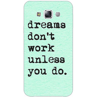 1 Crazy Designer Dream Quotes Back Cover Case For Samsung Galaxy A7 C431185