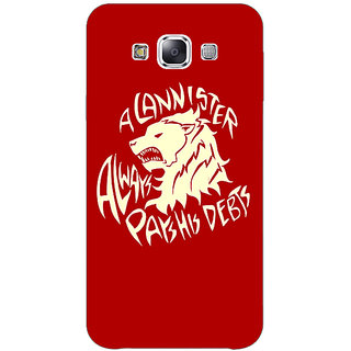 1 Crazy Designer Game Of Thrones GOT House Lannister  Back Cover Case For Samsung Galaxy E5 C440156