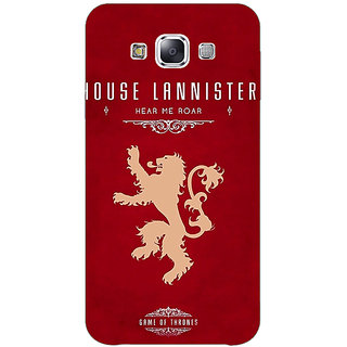 1 Crazy Designer Game Of Thrones GOT House Lannister  Back Cover Case For Samsung Galaxy E5 C440160