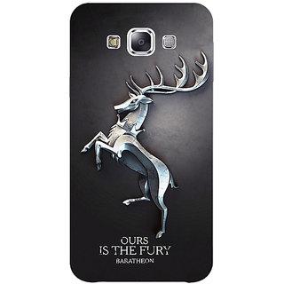 1 Crazy Designer Game Of Thrones GOT House Baratheon  Back Cover Case For Samsung Galaxy E5 C440169