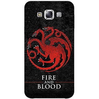 1 Crazy Designer Game Of Thrones GOT House Targaryen  Back Cover Case For Samsung Galaxy E5 C440200