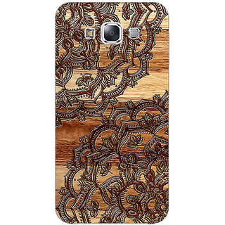 1 Crazy Designer Black Brown Doodle Pattern Back Cover Case For Samsung Galaxy E5 C440213
