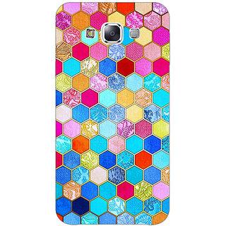 1 Crazy Designer Coloured Hexagon Pattern Back Cover Case For Samsung Galaxy E5 C440225