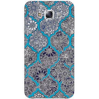1 Crazy Designer Blue Morroccan Pattern Back Cover Case For Samsung Galaxy E5 C440243