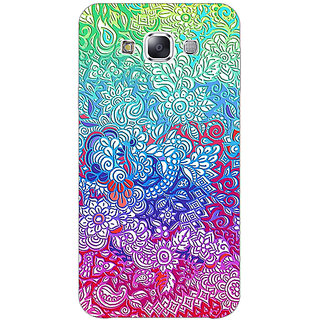 1 Crazy Designer Flower Gardens Pattern Back Cover Case For Samsung Galaxy E5 C440249
