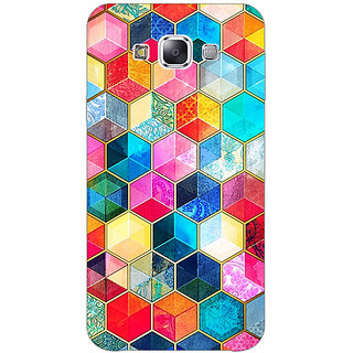 1 Crazy Designer Coloured Hexagons Pattern Back Cover Case For Samsung Galaxy A7 C430275