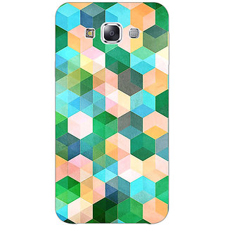 1 Crazy Designer Green Hexagons Pattern Back Cover Case For Samsung Galaxy A7 C430276