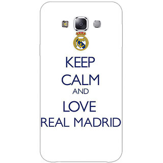 1 Crazy Designer Real Madrid Back Cover Case For Samsung Galaxy E5 C440600