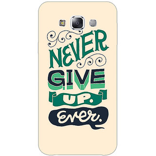 1 Crazy Designer Quotes Never Give Up Back Cover Case For Samsung Galaxy E5 C441153