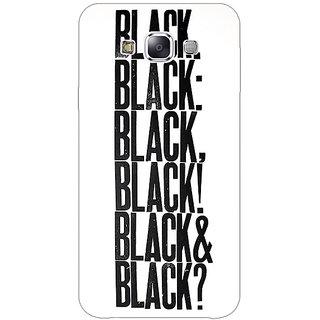 1 Crazy Designer Black Quotes Back Cover Case For Samsung Galaxy A7 C431199