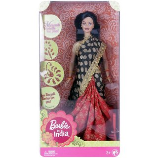 Barbie In India Doll - Red / Black