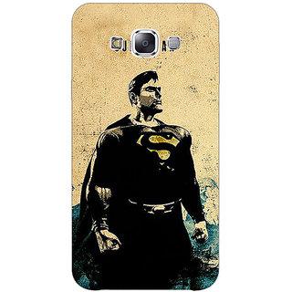 1 Crazy Designer Superheroes Superman Back Cover Case For Samsung Galaxy E5 C440027