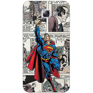 1 Crazy Designer Superheroes Superman Back Cover Case For Samsung Galaxy E5 C440029