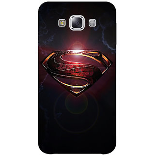 1 Crazy Designer Superheroes Superman Back Cover Case For Samsung Galaxy E5 C440035