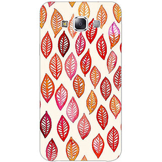 1 Crazy Designer Red Leaves Pattern Back Cover Case For Samsung Galaxy E5 C440253
