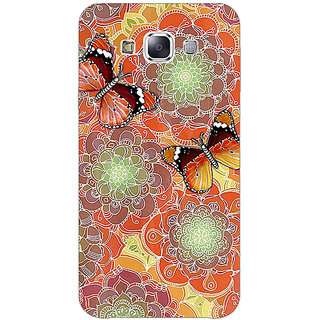 1 Crazy Designer Butterflies Pattern Back Cover Case For Samsung Galaxy E5 C440261