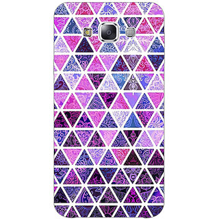1 Crazy Designer Purple Triangles Pattern Back Cover Case For Samsung Galaxy E5 C440268