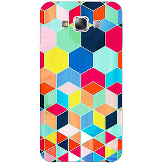 1 Crazy Designer Multicolour Hexagon Pattern Back Cover Case For Samsung Galaxy E5 C440286