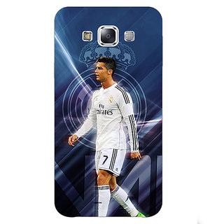 1 Crazy Designer Cristiano Ronaldo Real Madrid Back Cover Case For Samsung Galaxy E5 C440317
