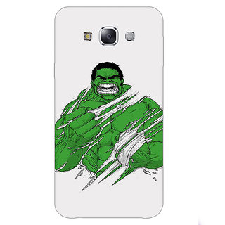 1 Crazy Designer Superheroes Hulk Back Cover Case For Samsung Galaxy E5 C440326