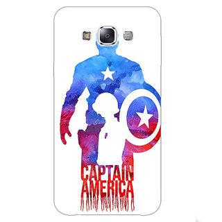 1 Crazy Designer Superheroes Captain America Back Cover Case For Samsung Galaxy E5 C440332